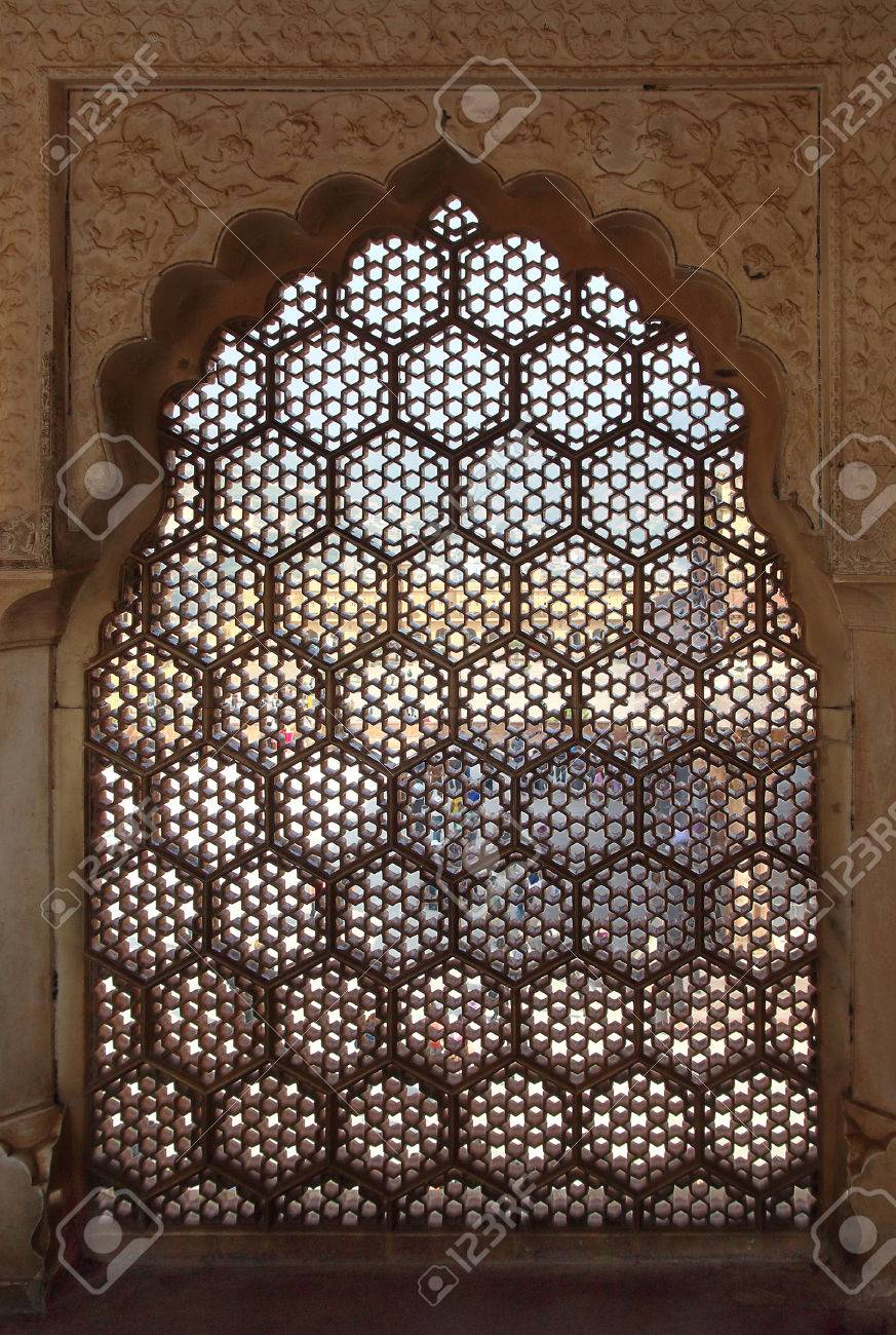 ornament lattice window in rajasthan india stock photo picture and