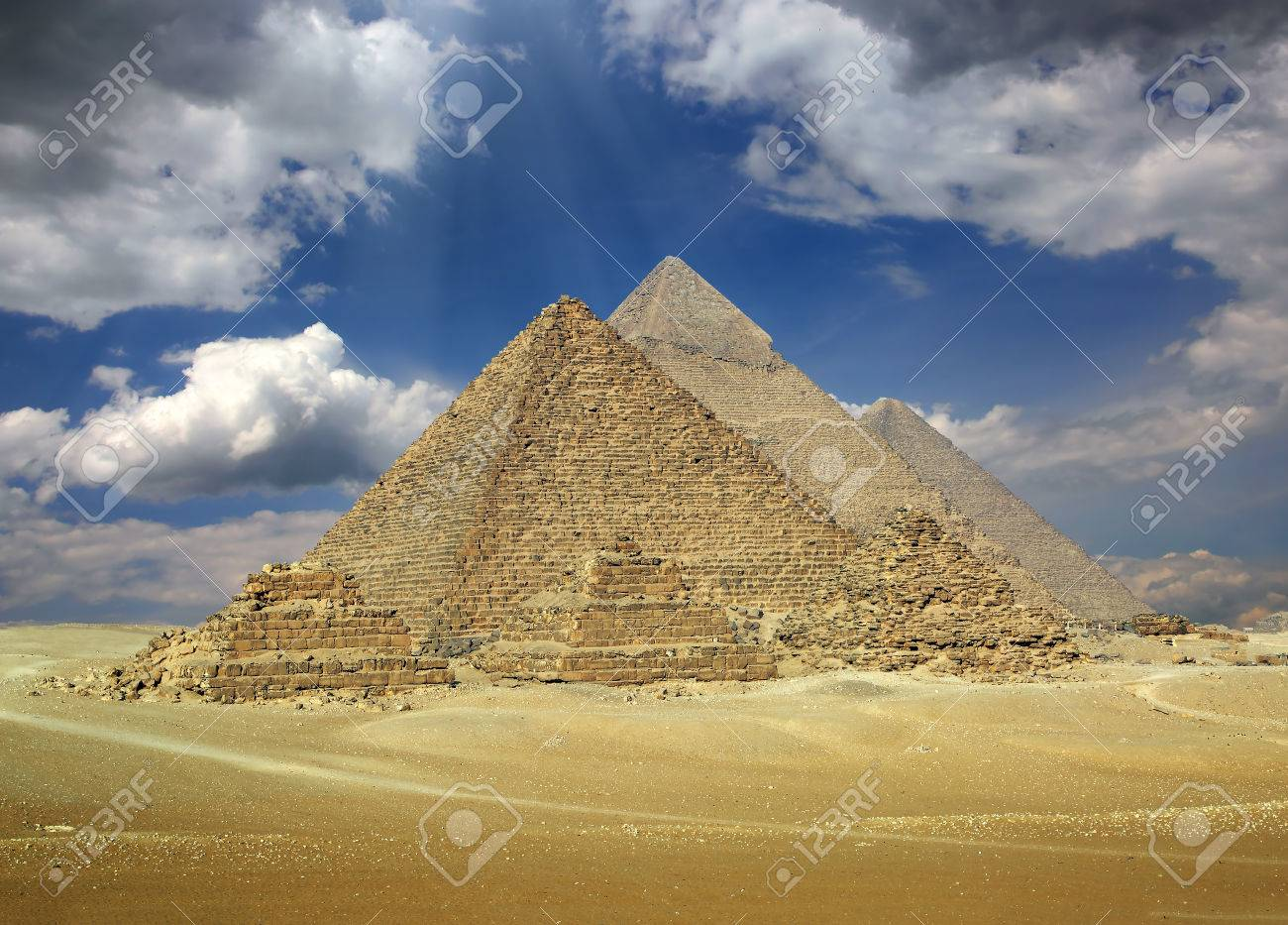Great pyramids at Giza Cairo in Egypt - 35857487