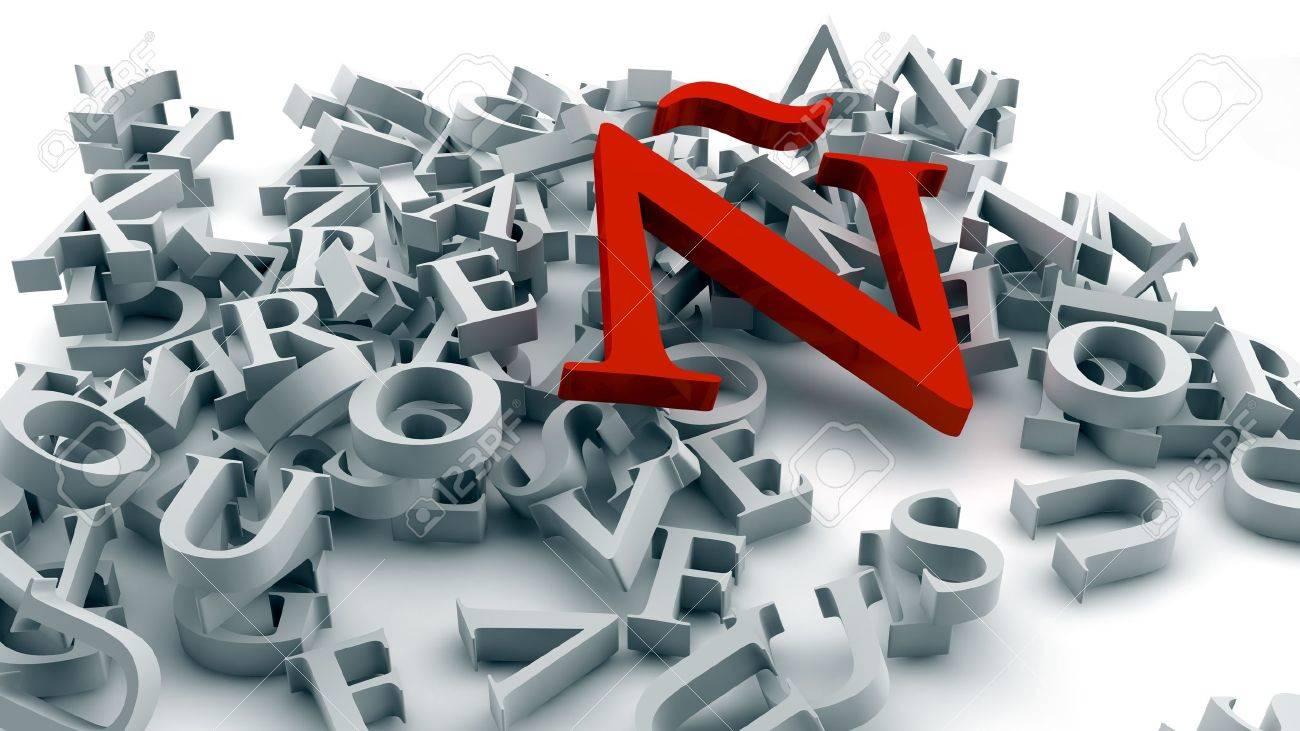 alphabet Stock Photo - 17119619