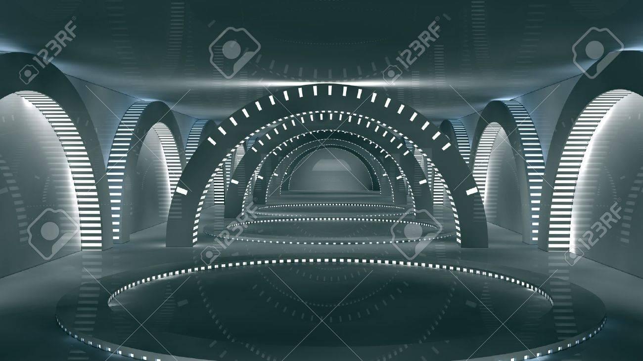 Futuristic interior  SCIFI Stock Photo - 17992138