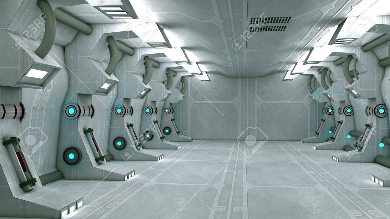 Futuristic interior  SCIFI Stock Photo - 17992108