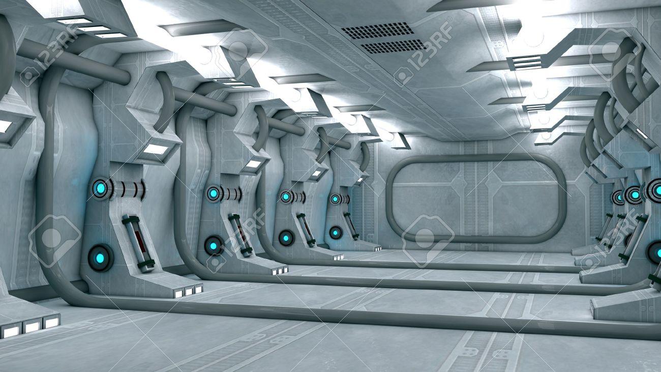 Futuristic interior  SCIFI Stock Photo - 17992109