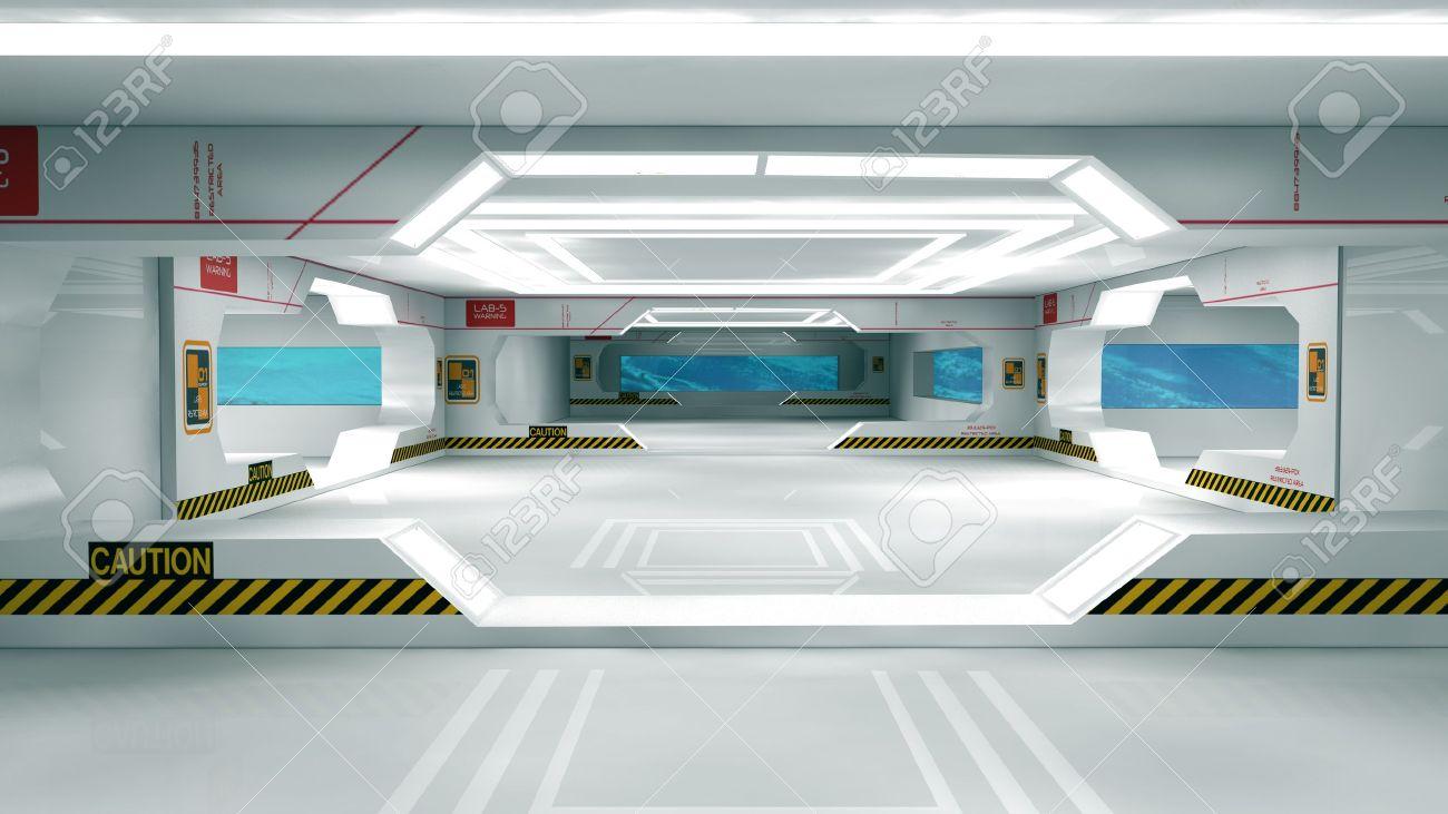 Futuristic interior  SCIFI Stock Photo - 18809380