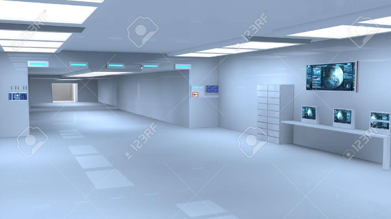 Futuristic interior  SCIFI Stock Photo - 19467625