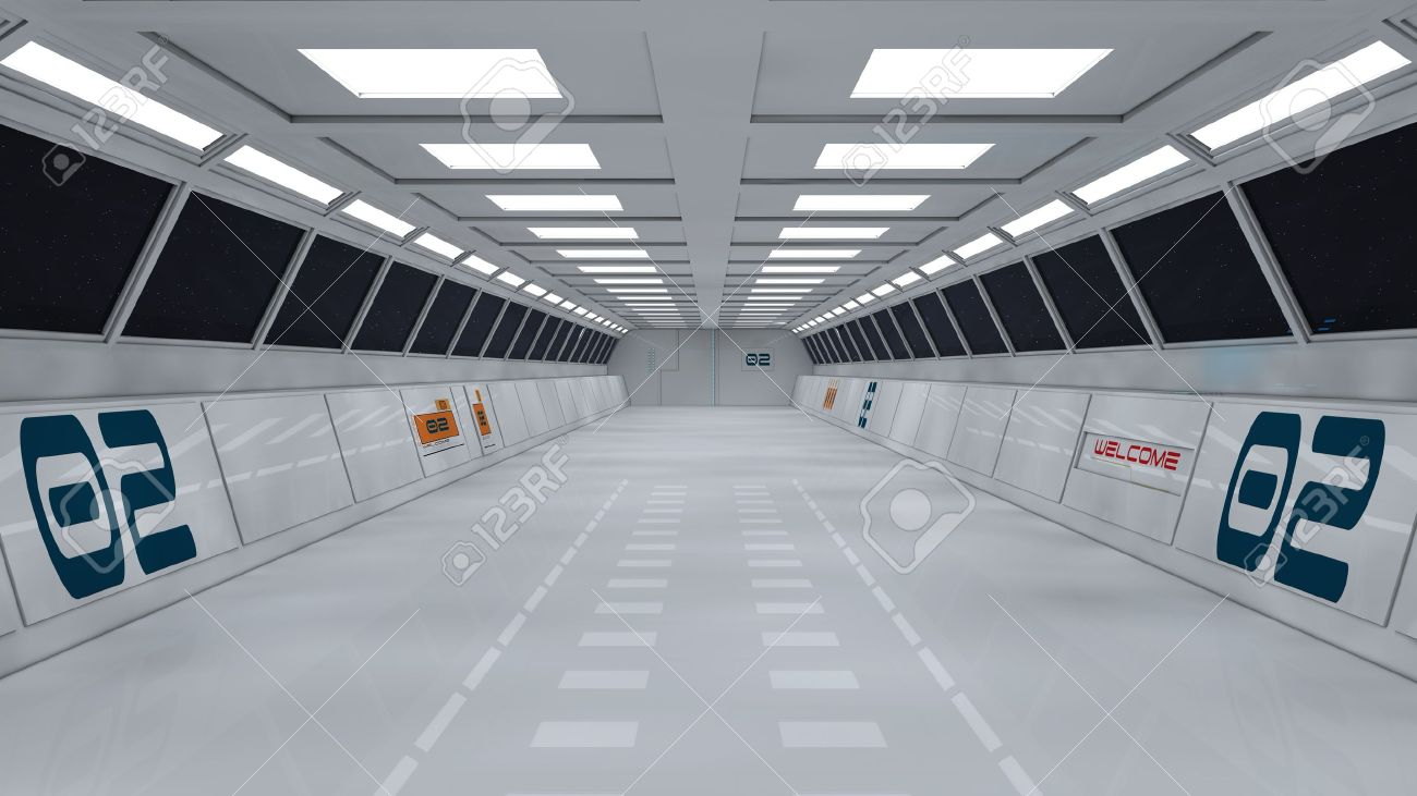 Futuristic interior  SCIFI Stock Photo - 19467705