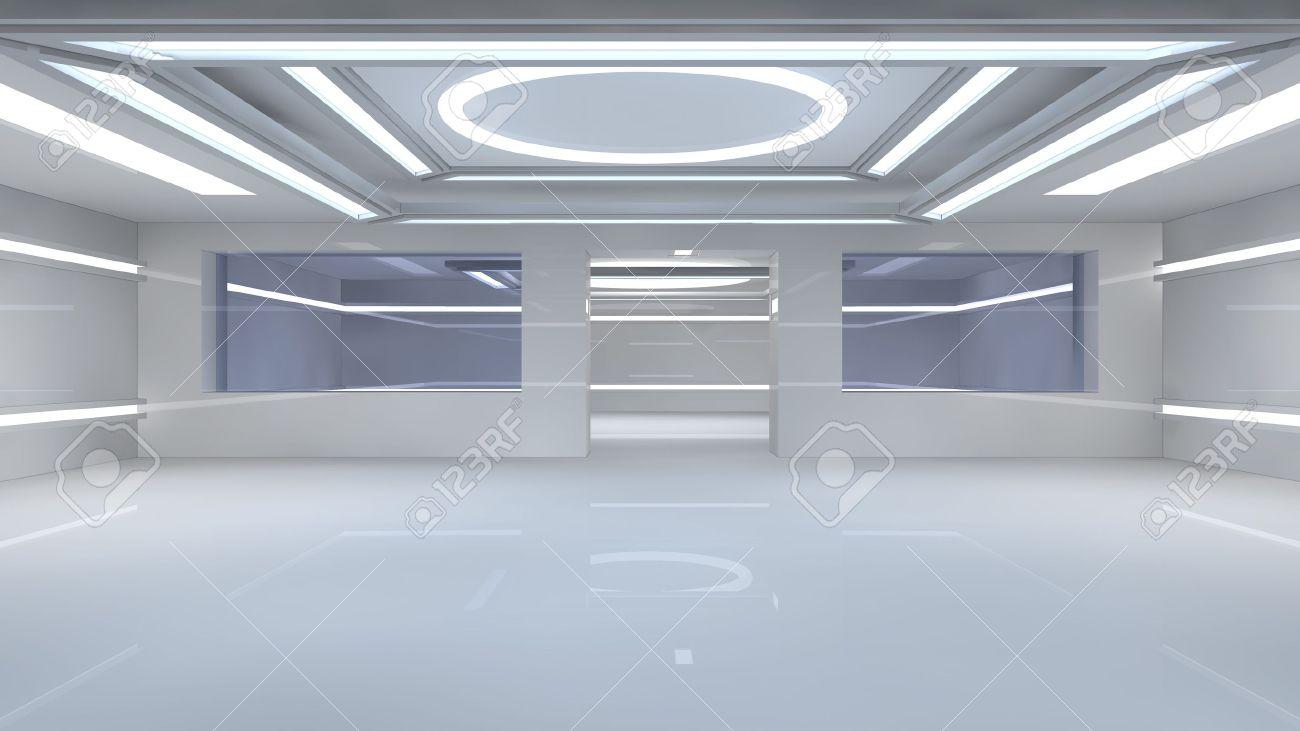 Futuristic interior Stock Photo - 20748104