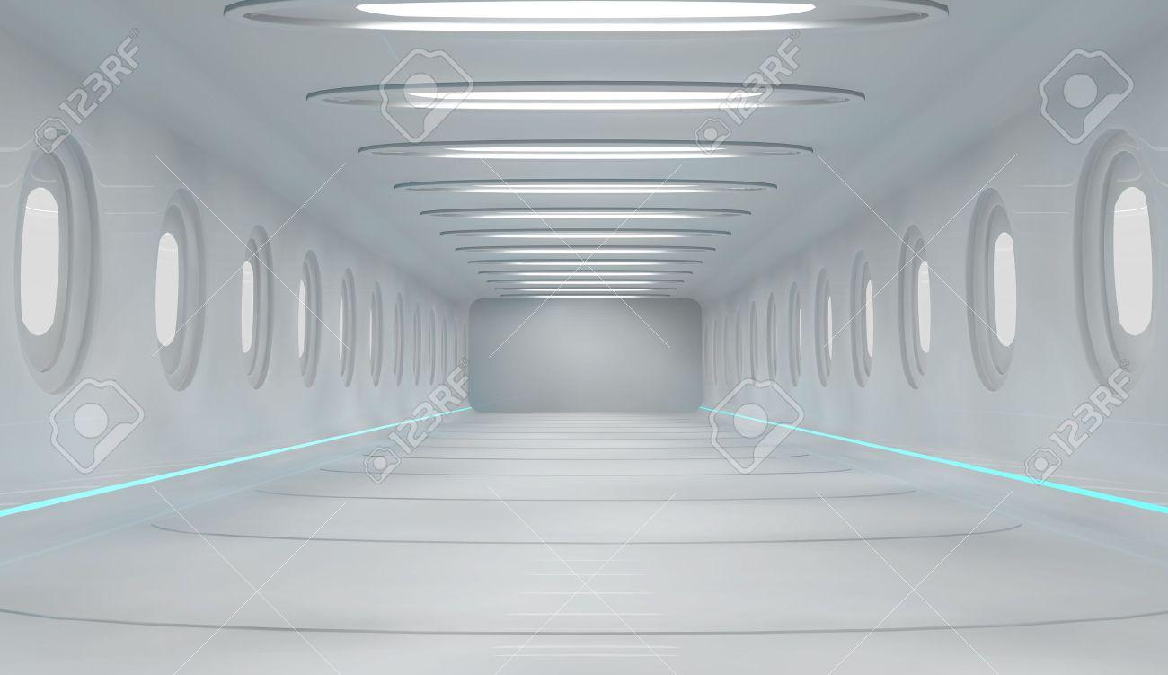 Futuristic interior Stock Photo - 20748112