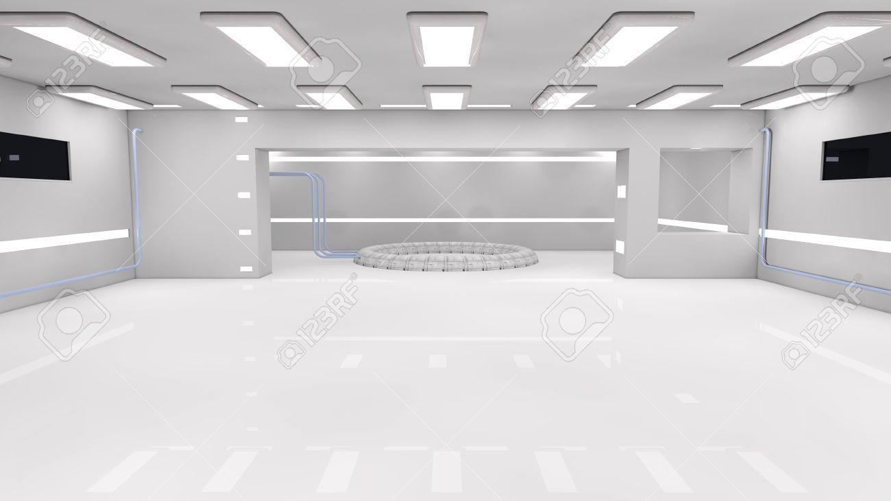 Futuristic Interior SCIFI Stock Photo