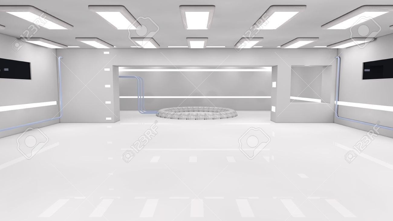 Futuristic interior  SCIFI Stock Photo - 21958247