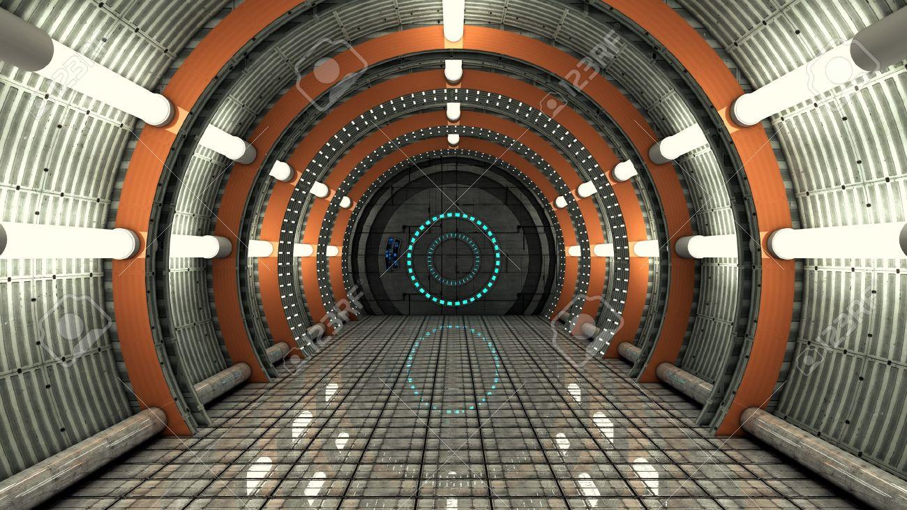 Futuristic interior  SCIFI Stock Photo - 21958279