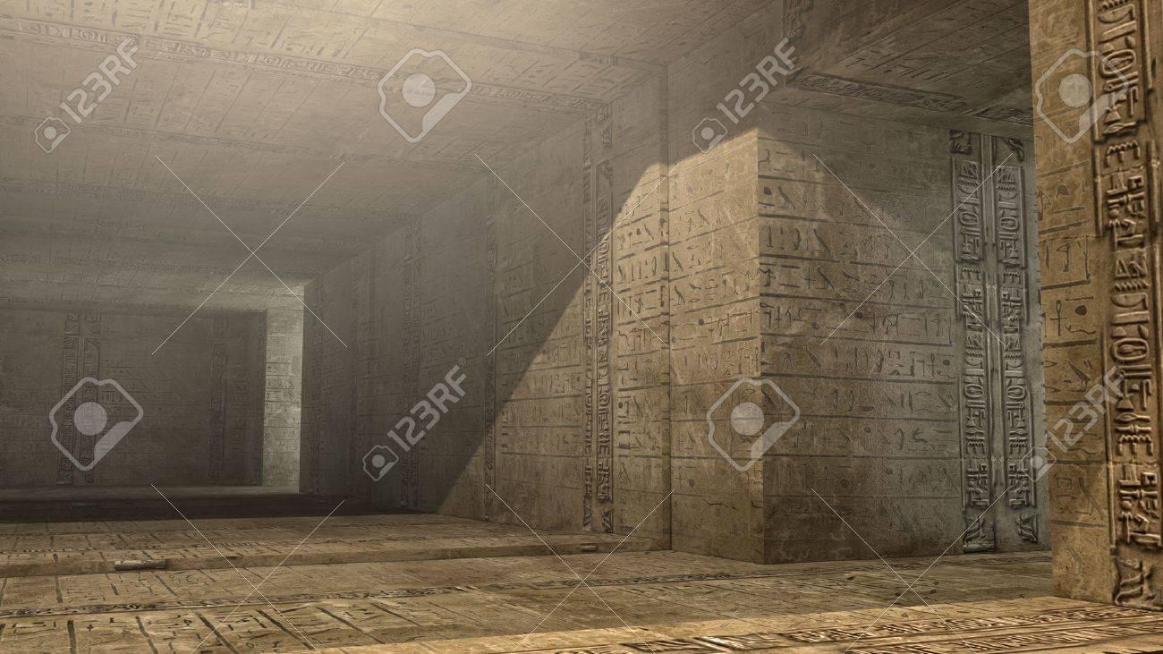 Futuristic pyramid interior - 22697279