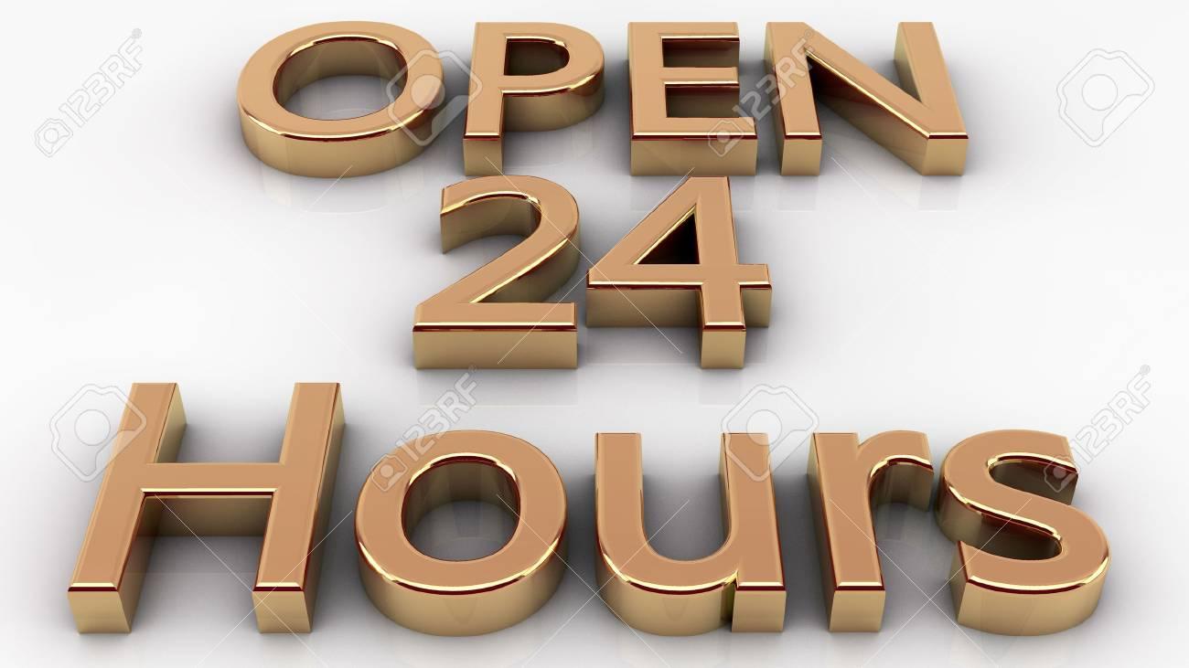 Open 24 hours Stock Photo - 23413388