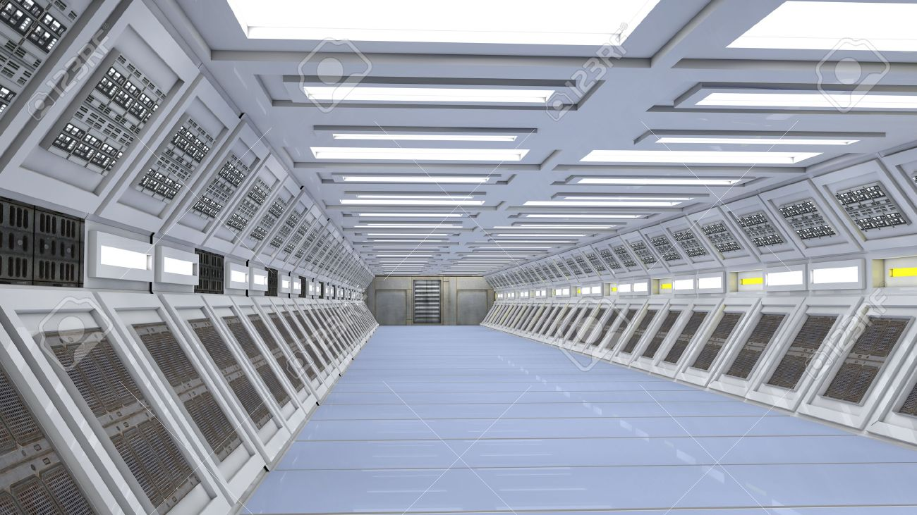 Futuristic interior Stock Photo - 23414120