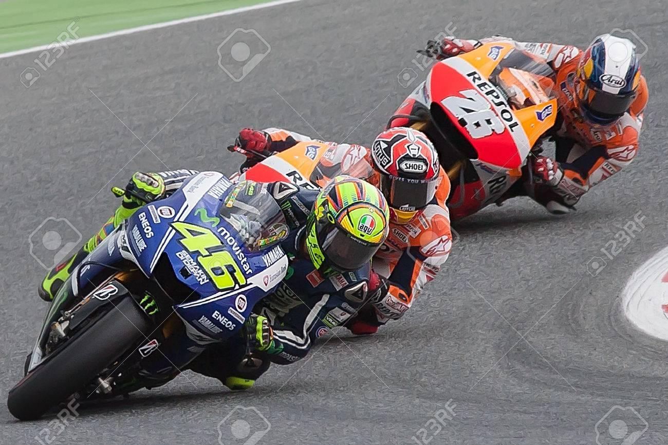 Monster Energy Grand Prix of Catalunya MotoGP  Drivers, Rosi, Marquez, Pedrosa  MOTOGP Stock Photo - 29151887