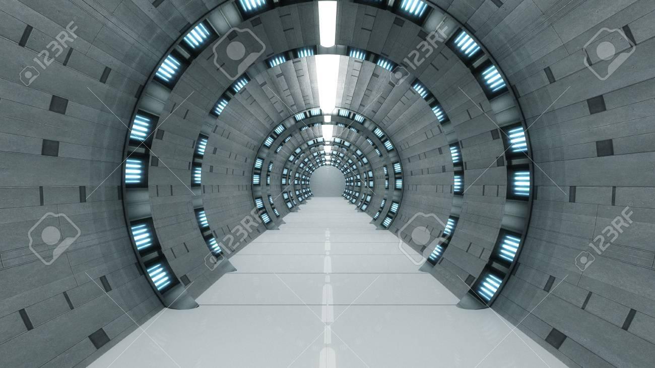 Futuristic corridor Stock Photo - 30076904