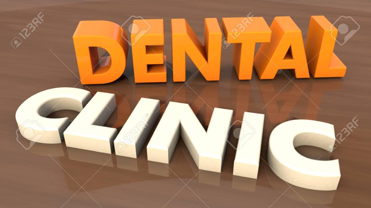 Dental clinic 3d text - 31731572