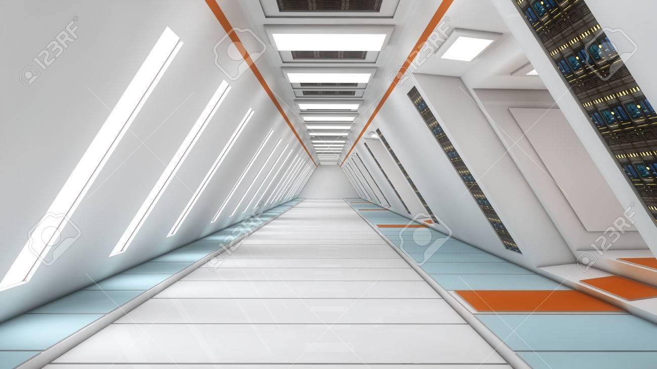 Futuristic interior - 35418619