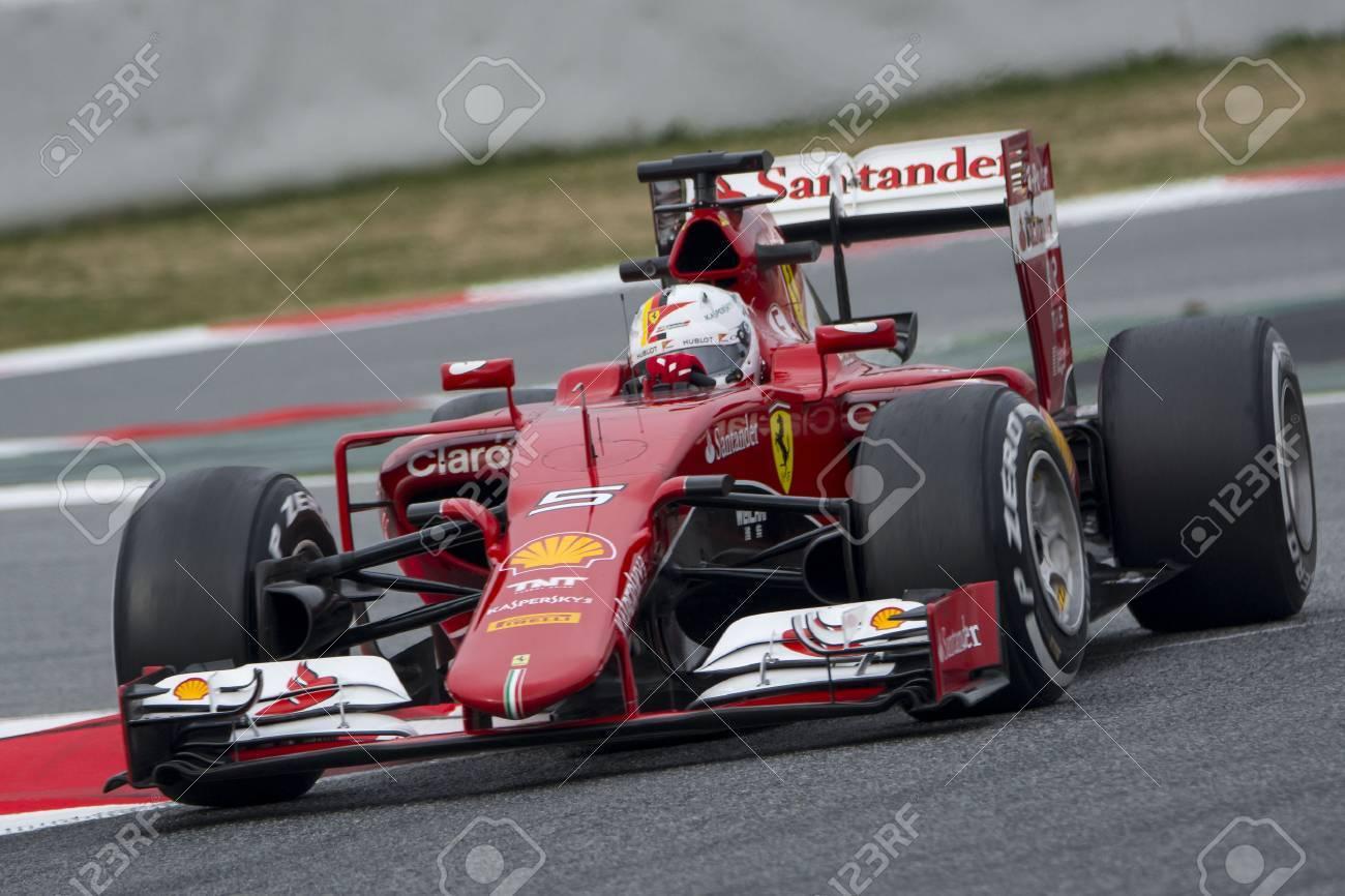 Driver Sebastian Vettel Team Ferrari  F1.  Stock Photo - 36789688