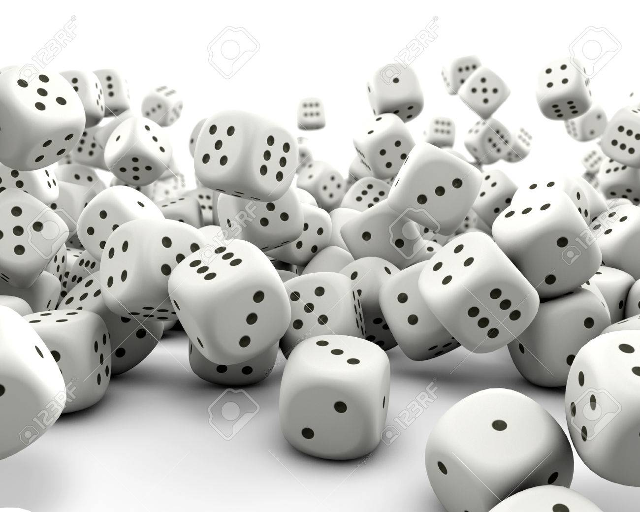 Falling gaming dice Stock Photo - 37701988