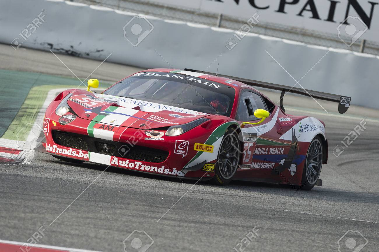 Ferrari 458 Italia Gt3 Blancpain Gt Series Championship At Stock Photo Picture And Royalty Free Image Image 63615669