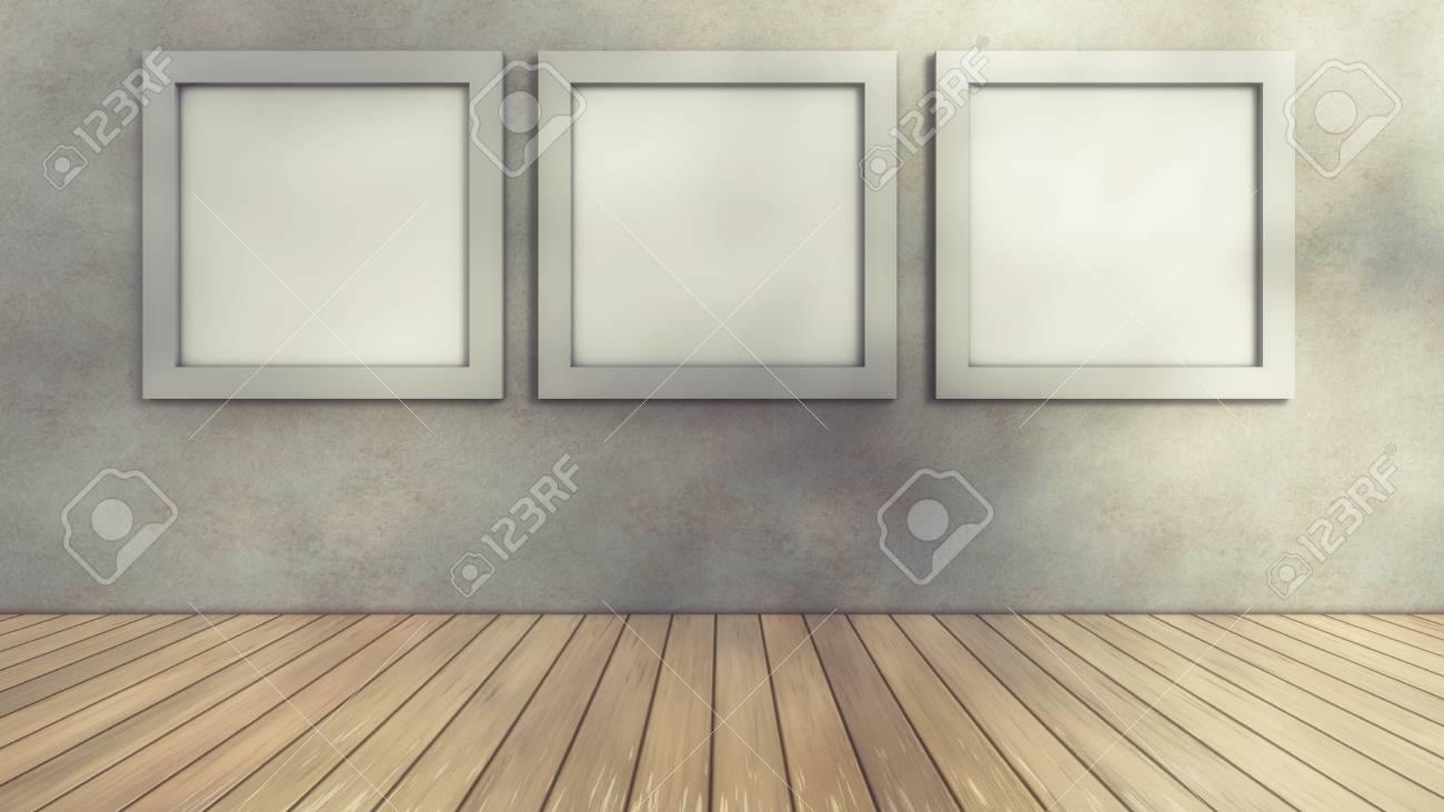 room floor and frames ロイヤリティーフリーフォト ピクチャー 画像
