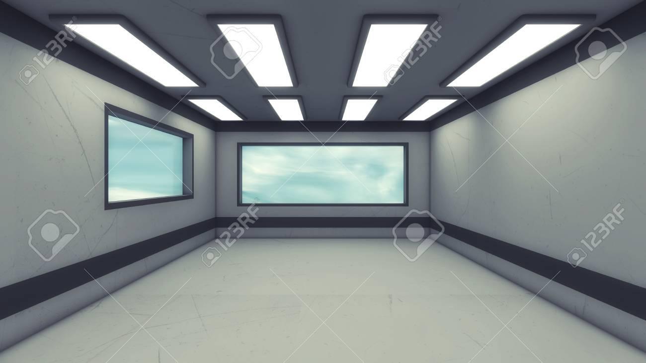 3d Rendering. Futuristic Interior Design Background Stock Photo   85554586