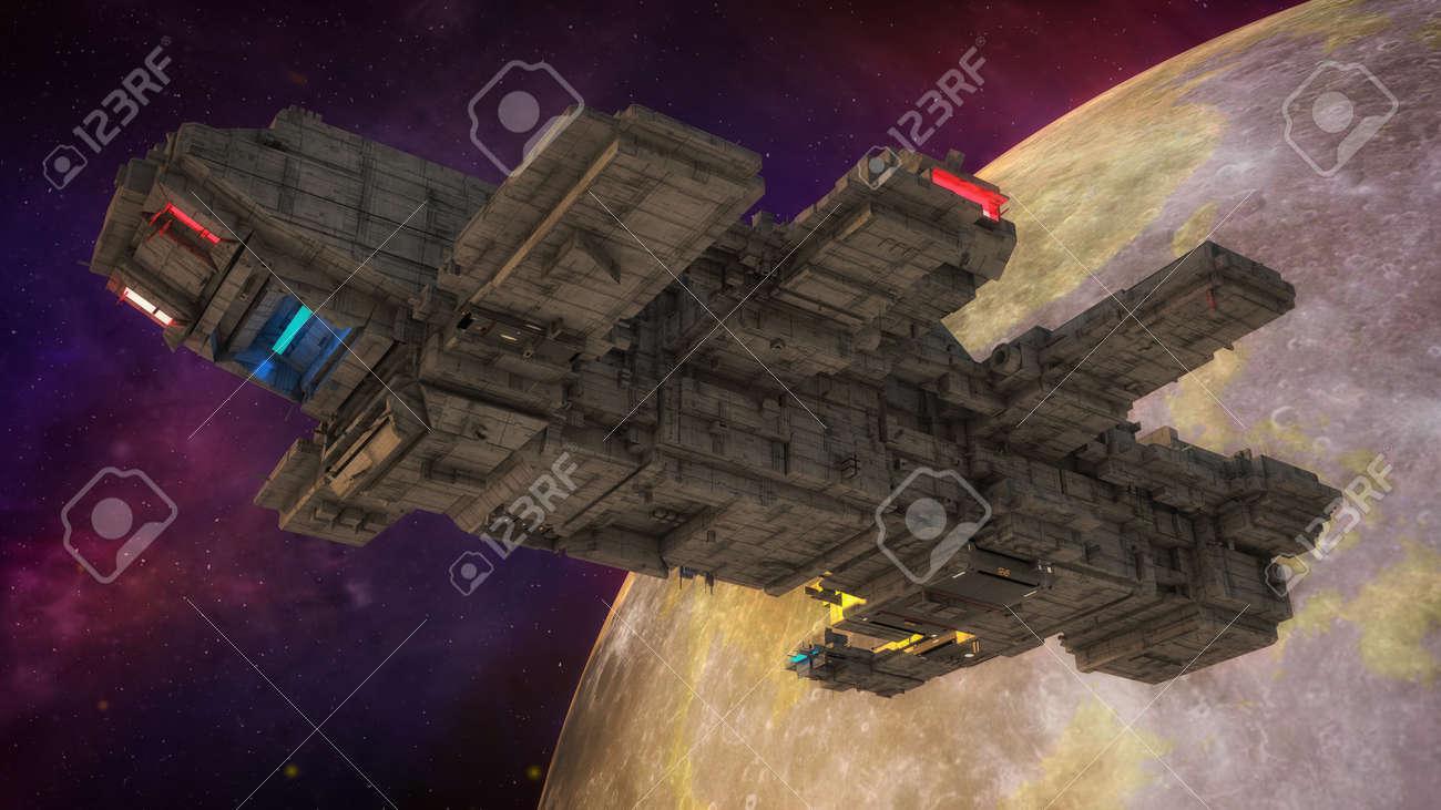 3d render. Spaceship concept design - 167480040
