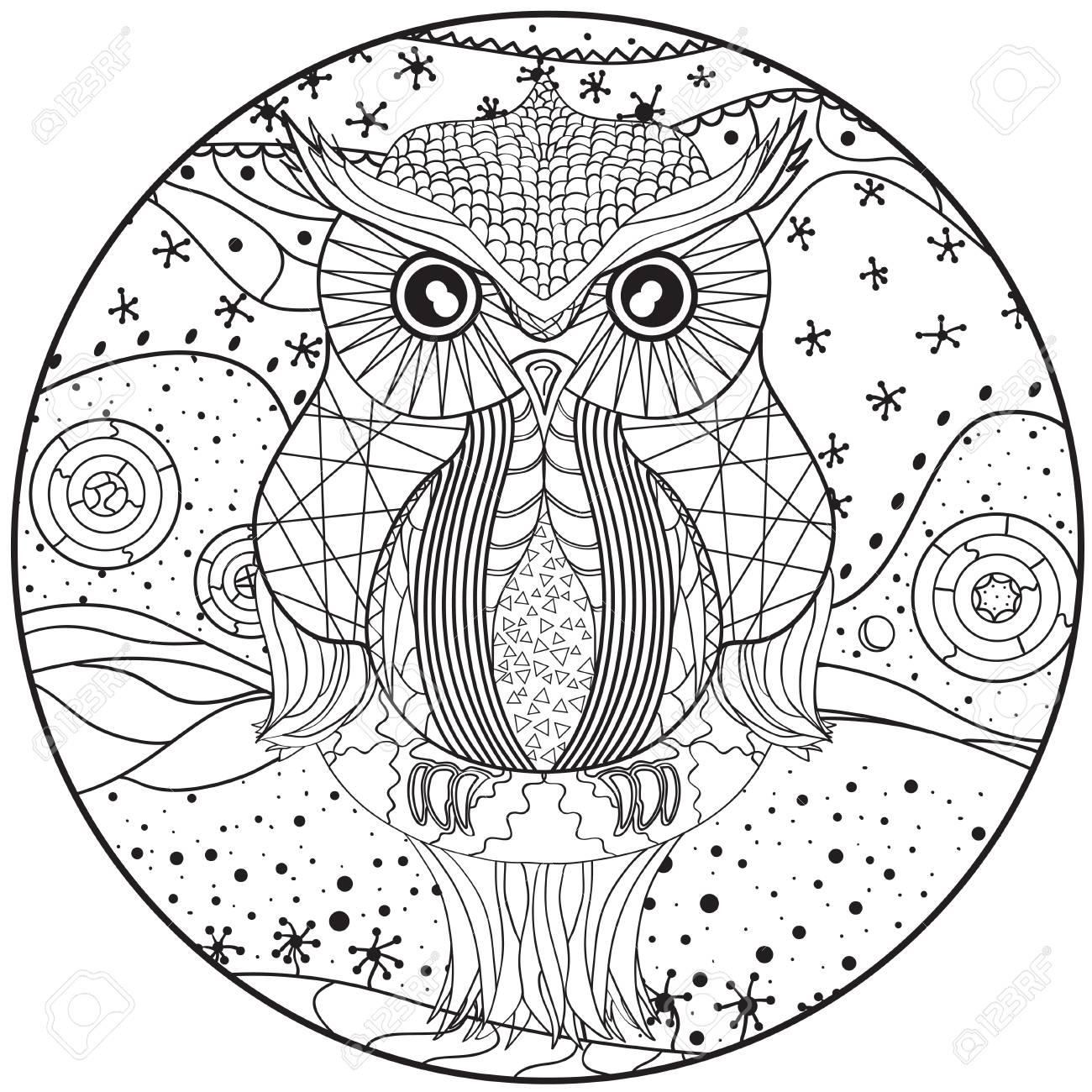 Buho Tatuaje Mandala mandala owl design - teppe.digitalfuturesconsortium