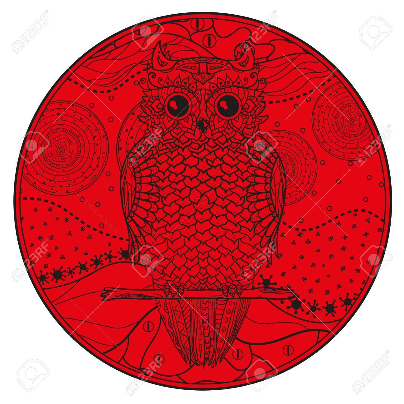 Mandala with owl design zentangle hand drawn abstract patterns hand drawn abstract patterns on isolation background design for spiritual biocorpaavc Choice Image