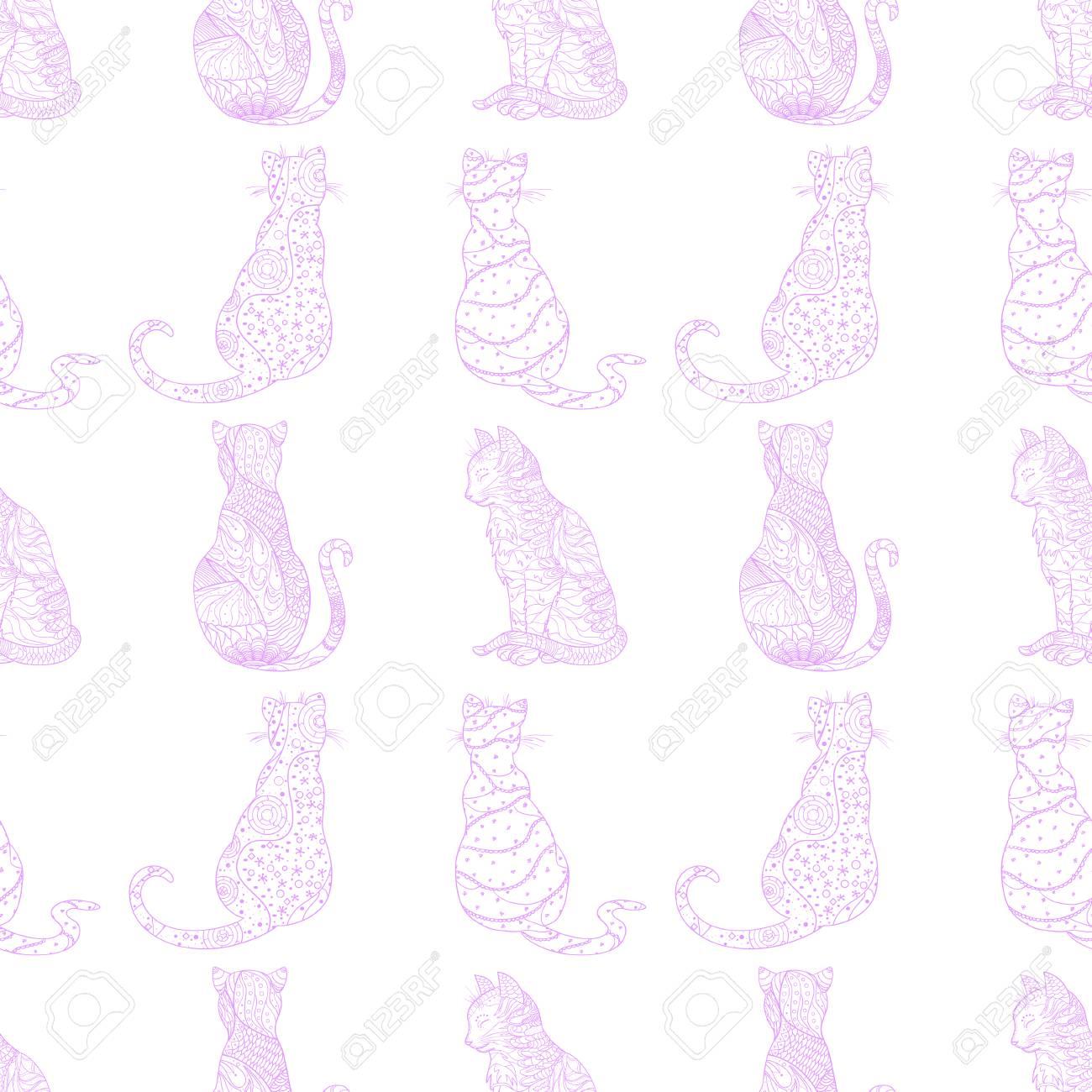 Atractivo Gato En El Sombrero De Patrón De Costura Imagen - Ideas de ...