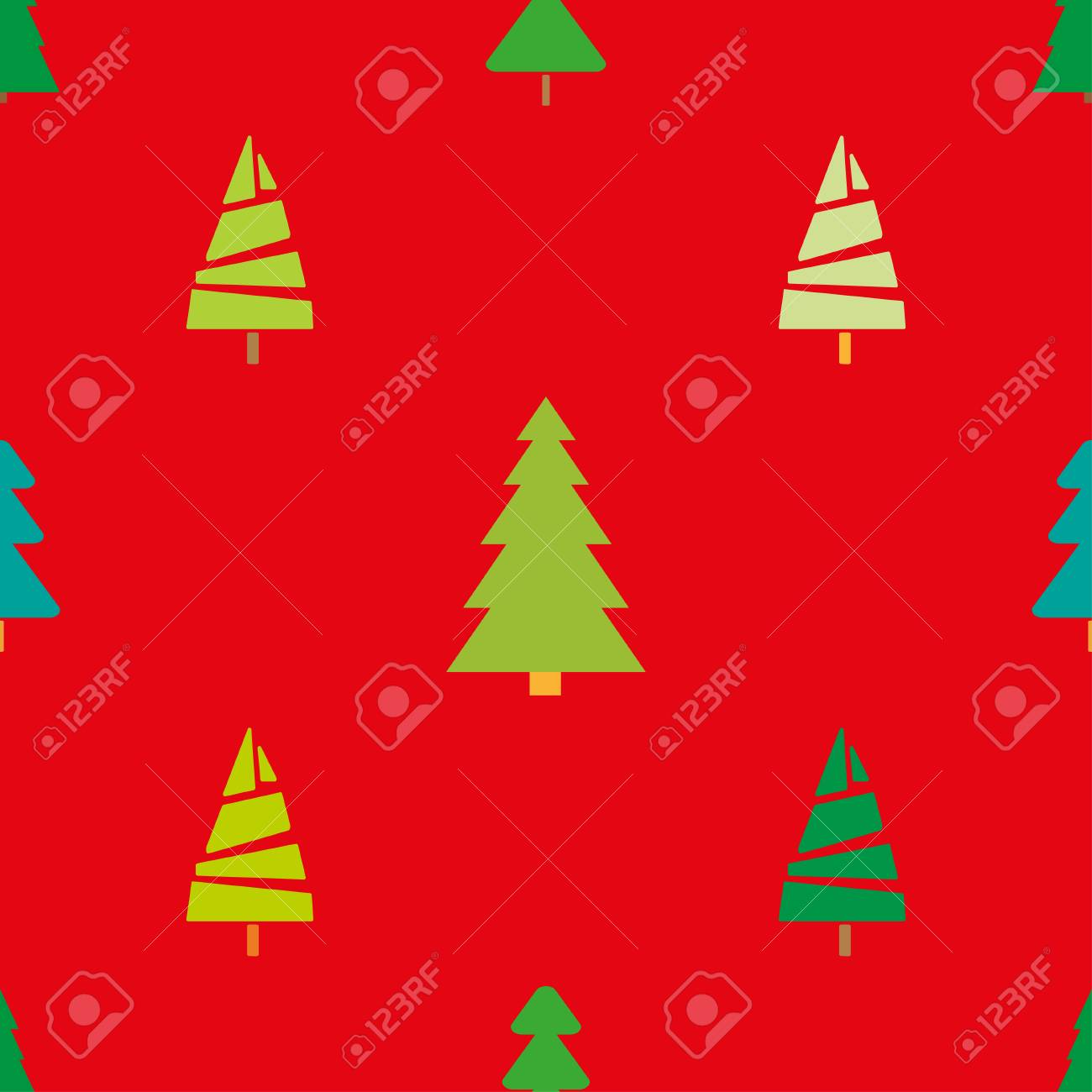 seamless pattern with christmas trees. abstract geometric wallpaper