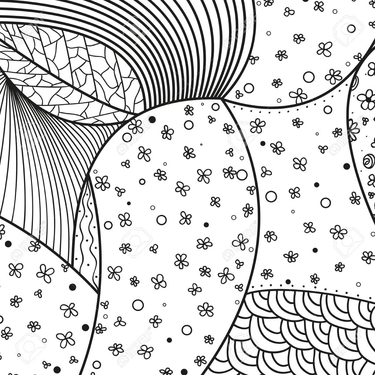 Square pattern on white  Zentangle  Hand drawn mandala on isolated