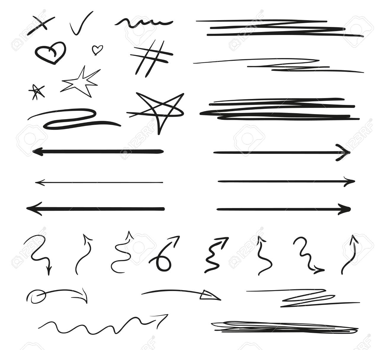 Infographic elements on isolation background. Backgrounds with array of lines on white. Intricate chaotic textures. Hand drawn tangled patterns. Black and white illustration - 125778897