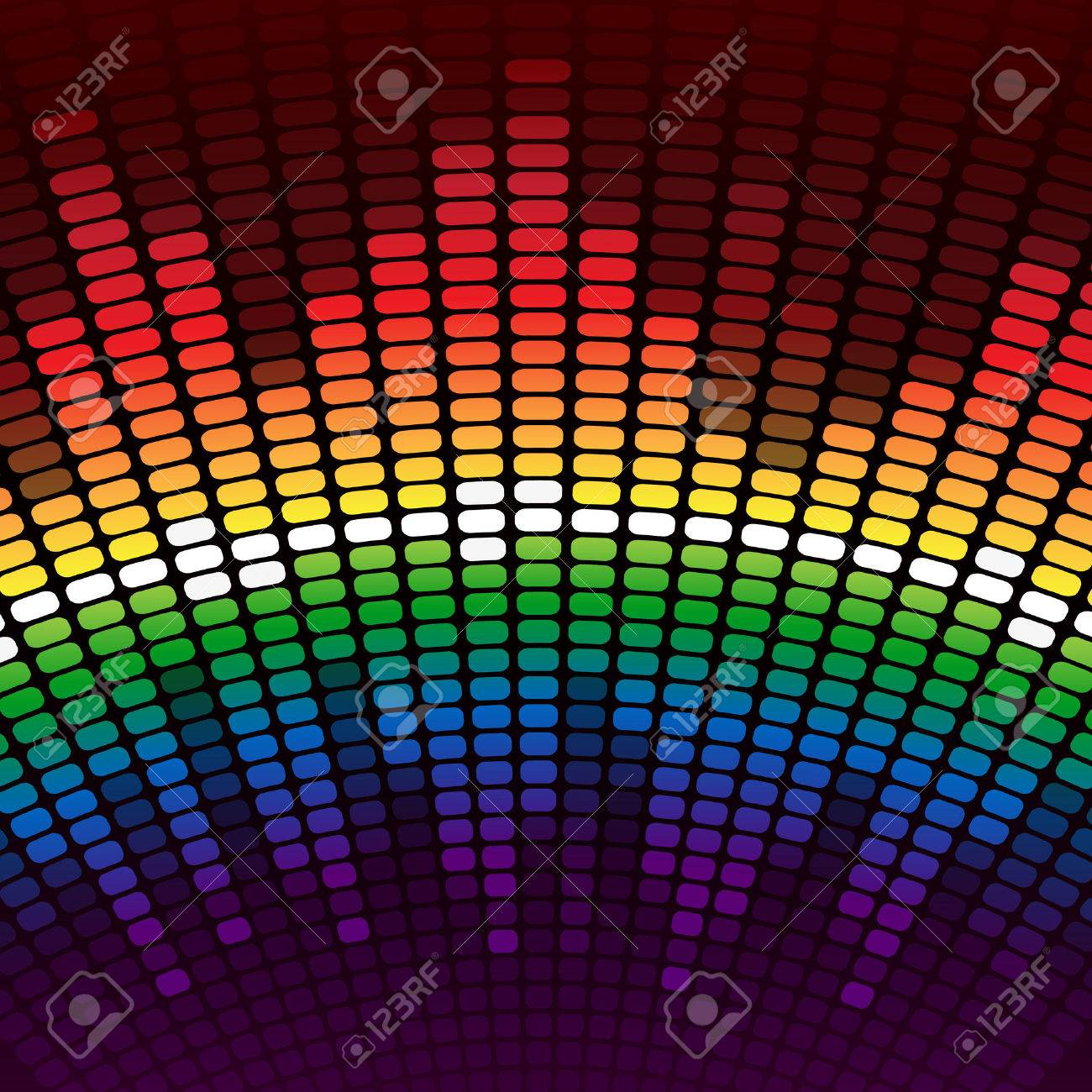 Rainbow digital equalizer background. RGB EPS 10 vector Stock Vector - 24755218
