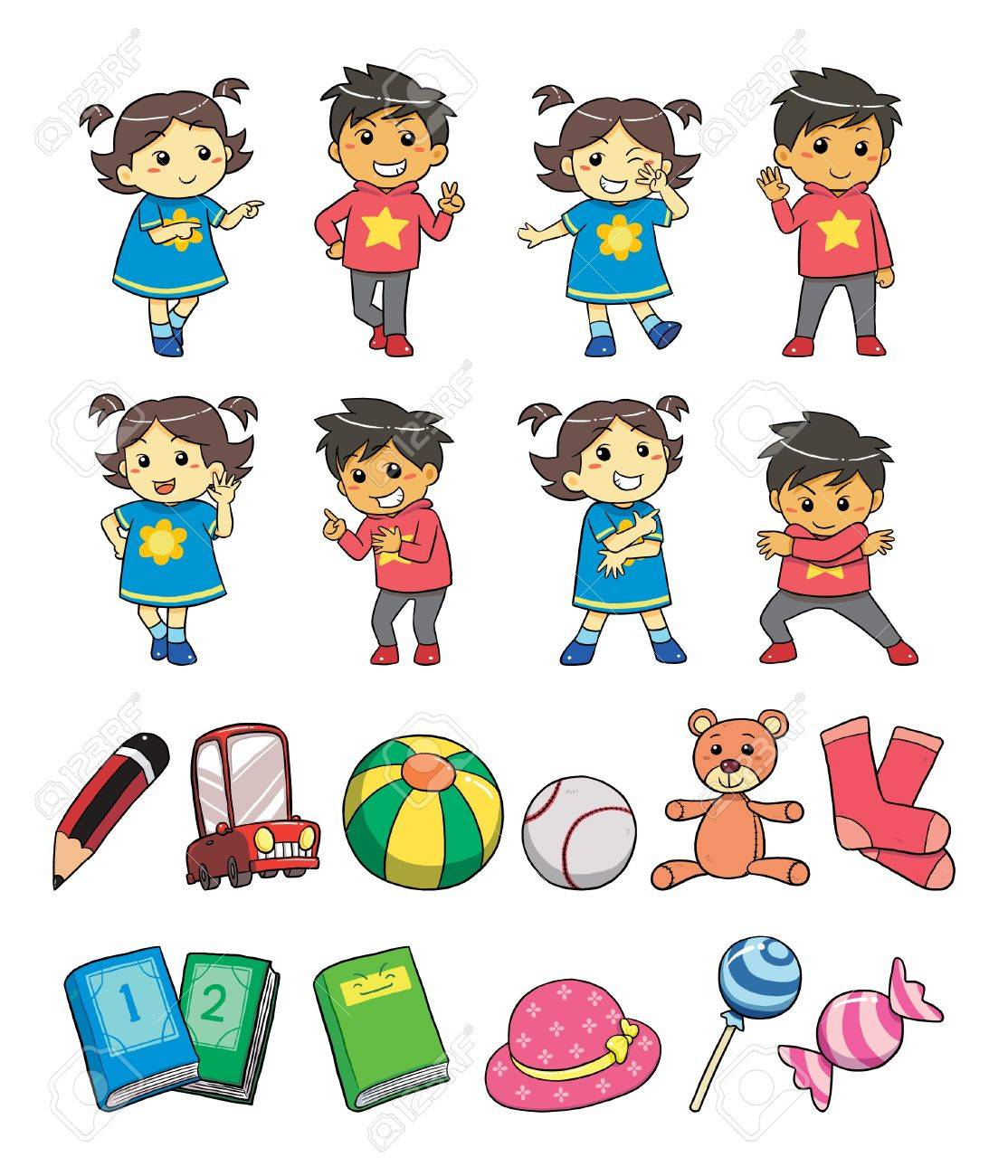 Kids Style Stock Vector - 9720856