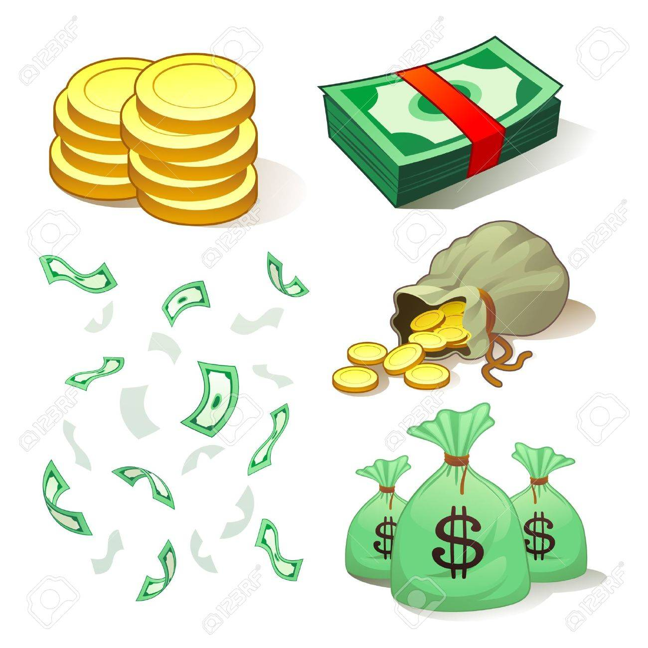 Money And Coins Stock Vector - 9720852