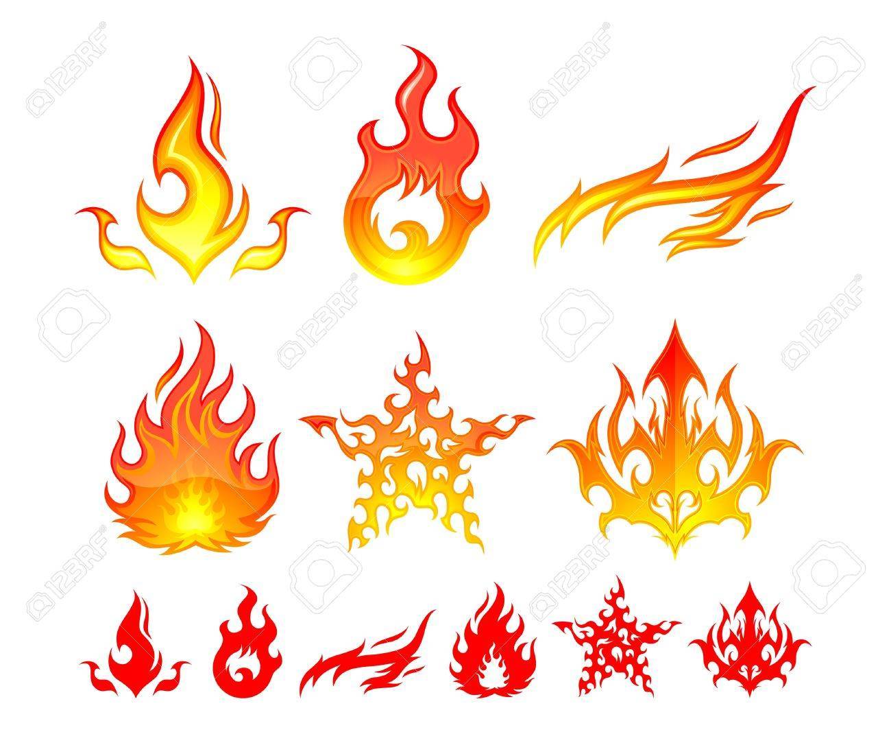 Fire Elements Stock Vector - 9720853