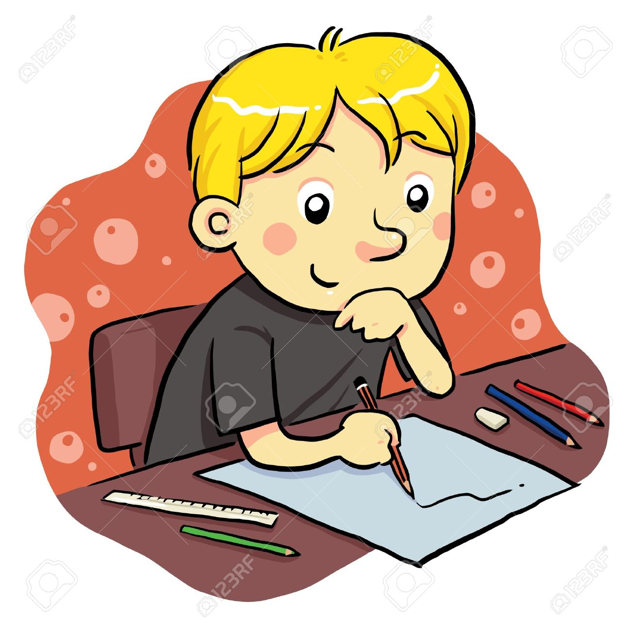 Studying Stock Vector - 9718879