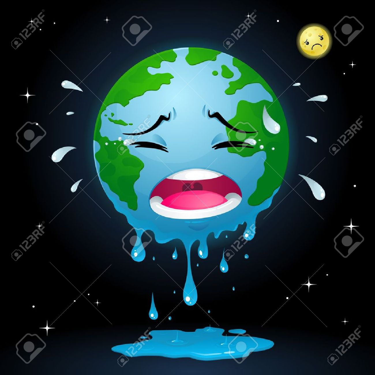 Crying Earth Stock Vector - 16664198
