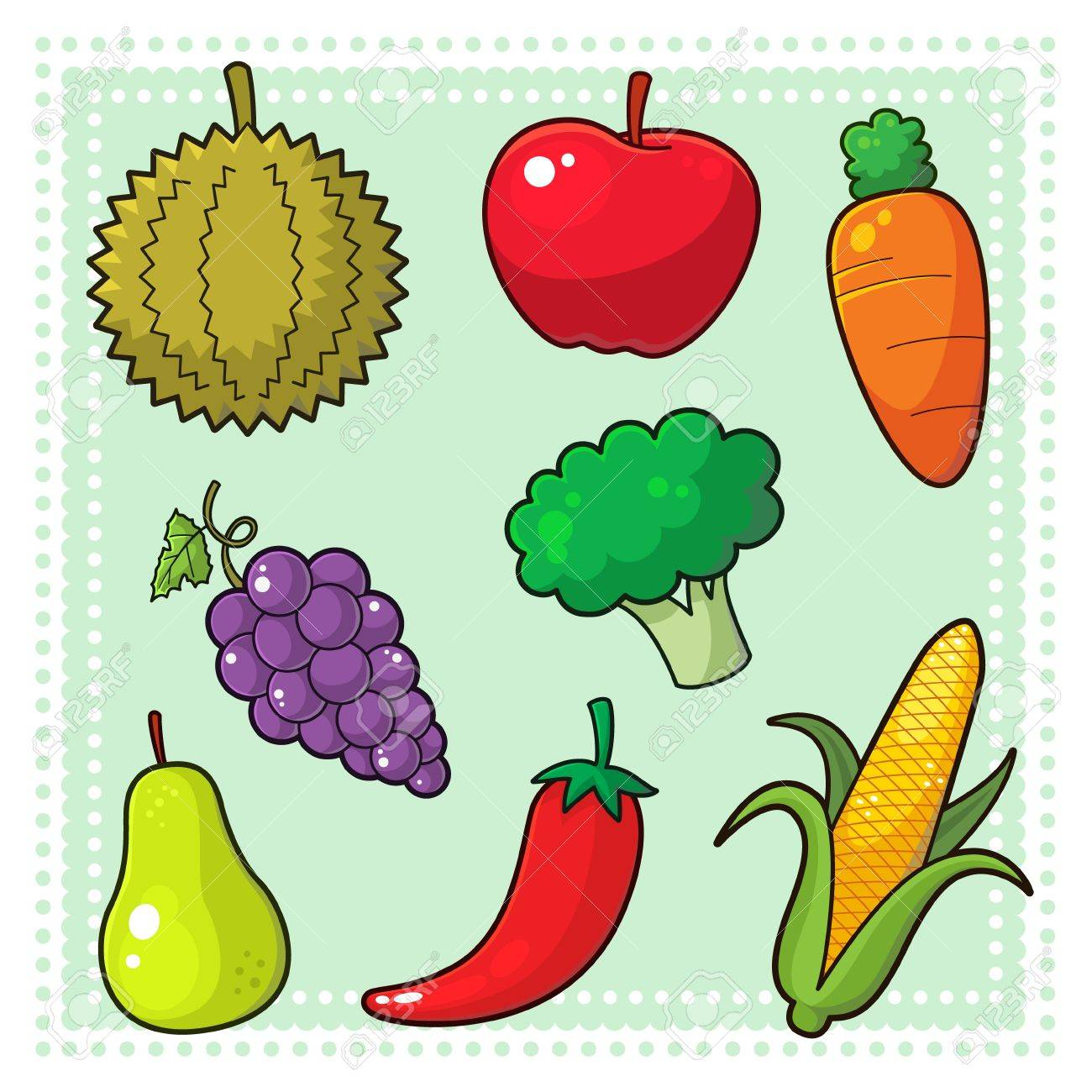 Fruits and Vegetables Stock Vector - 17276506