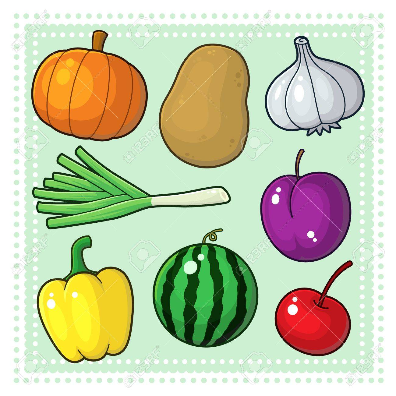 Fruits and Vegetables Stock Vector - 17276502