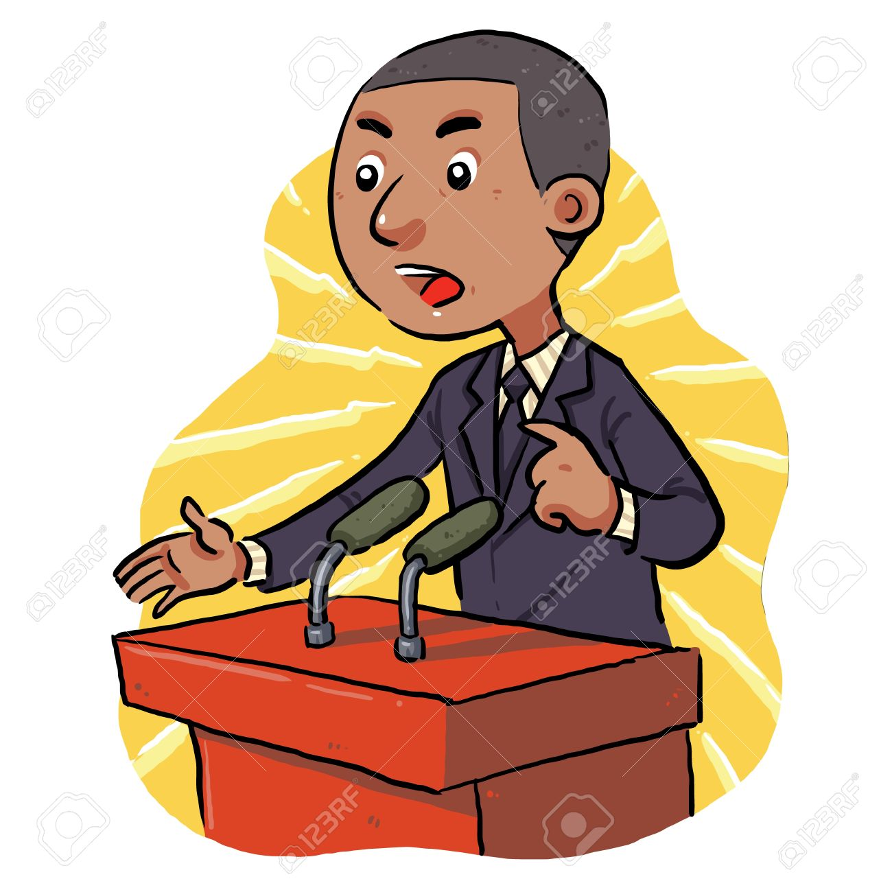 Politician speech in front of the audience Stock Vector - 20362219