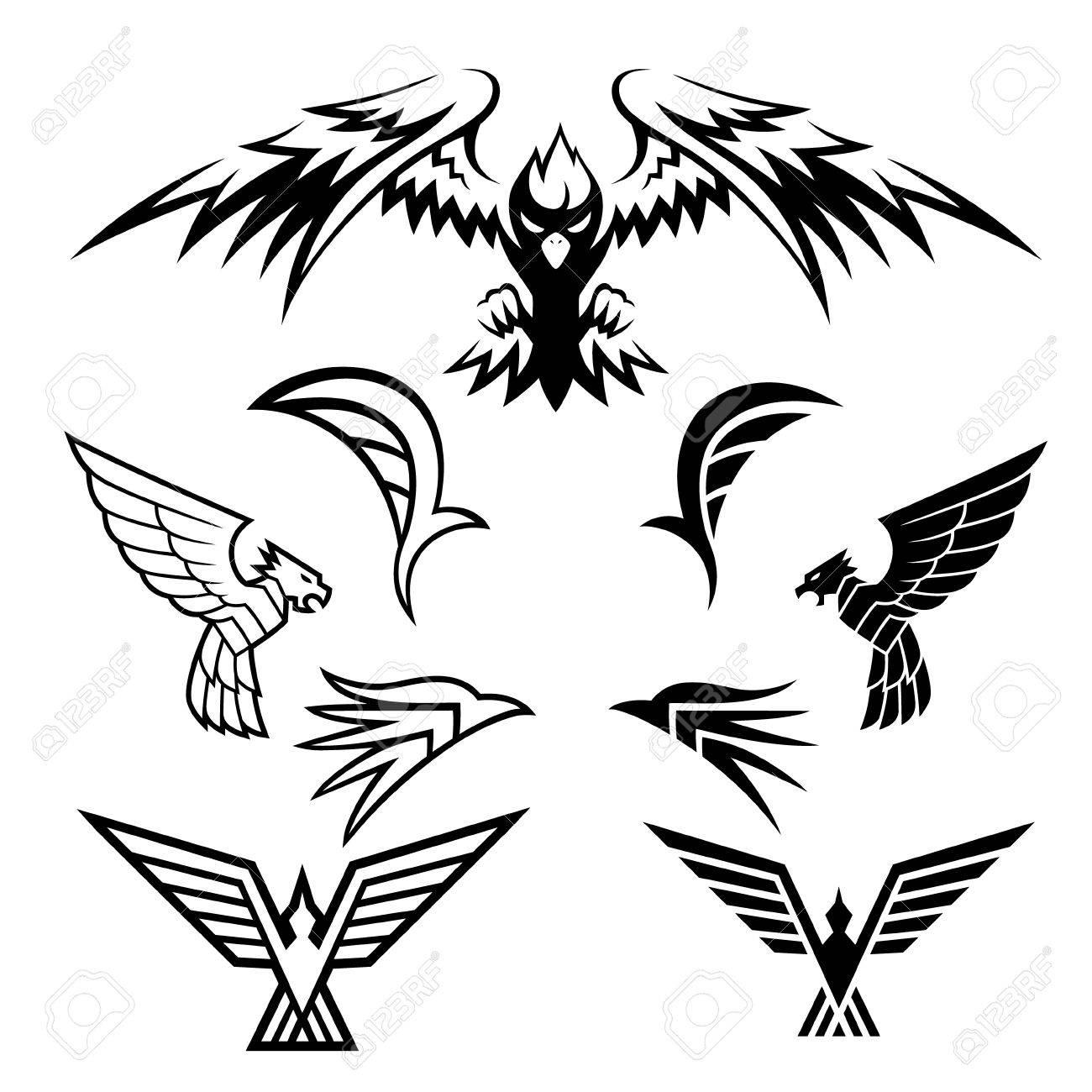 Bird Symbols A pack of bird symbols Stock Vector - 22719388