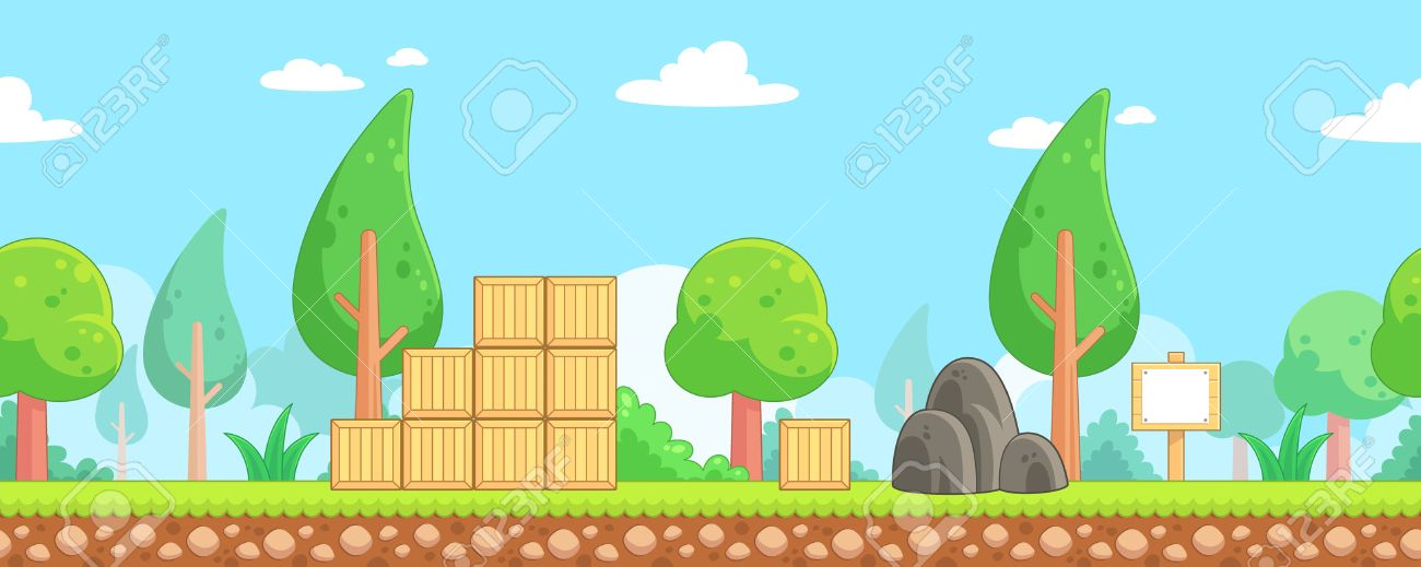 nature scenes game background suitable for side scrolling action