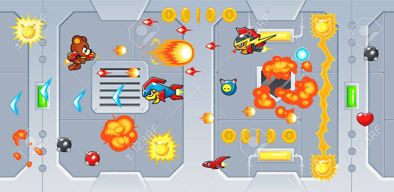 The Rocketeers game assets for 2D action adventure shooting side