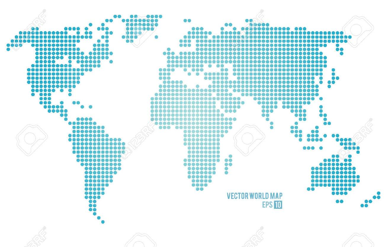 Vector World Map Royalty Free Cliparts Vectors And Stock - Flat globe map