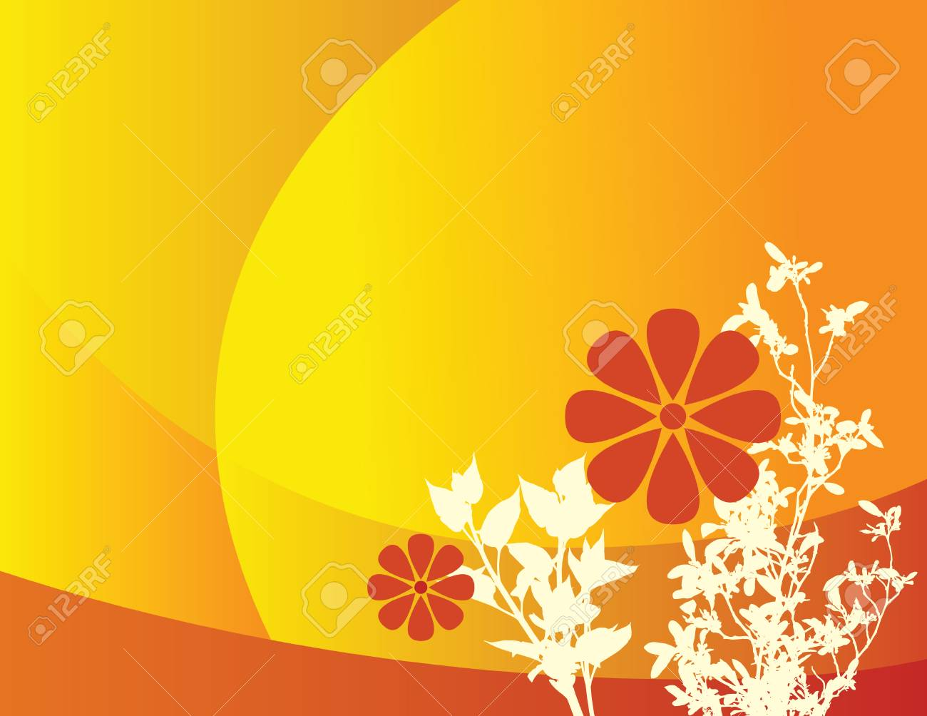 An abstract floral background with space for text Stock Vector - 3374778