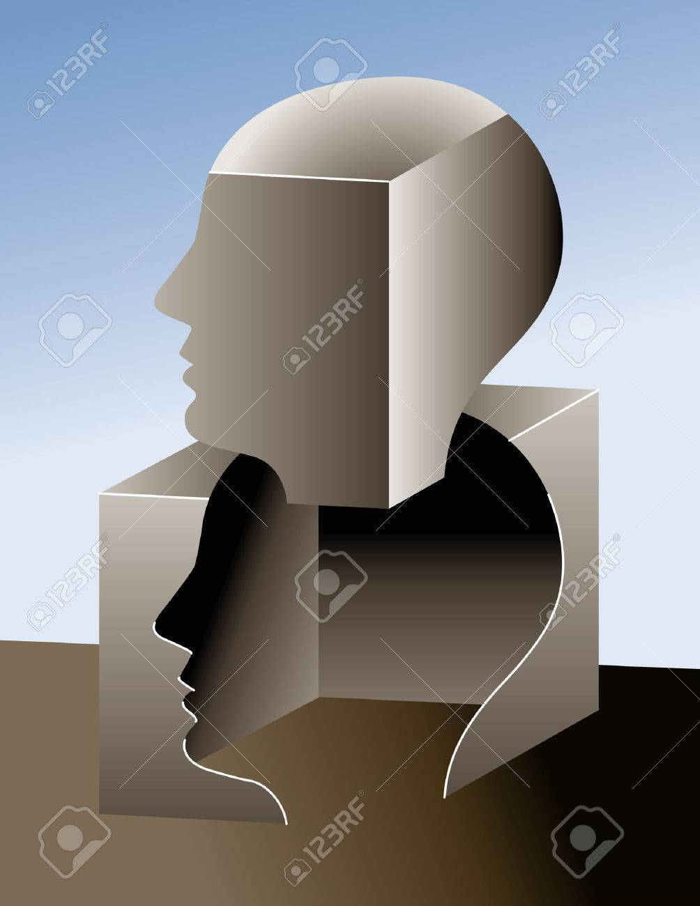 Thinking outside of the box Stock Vector - 3540340