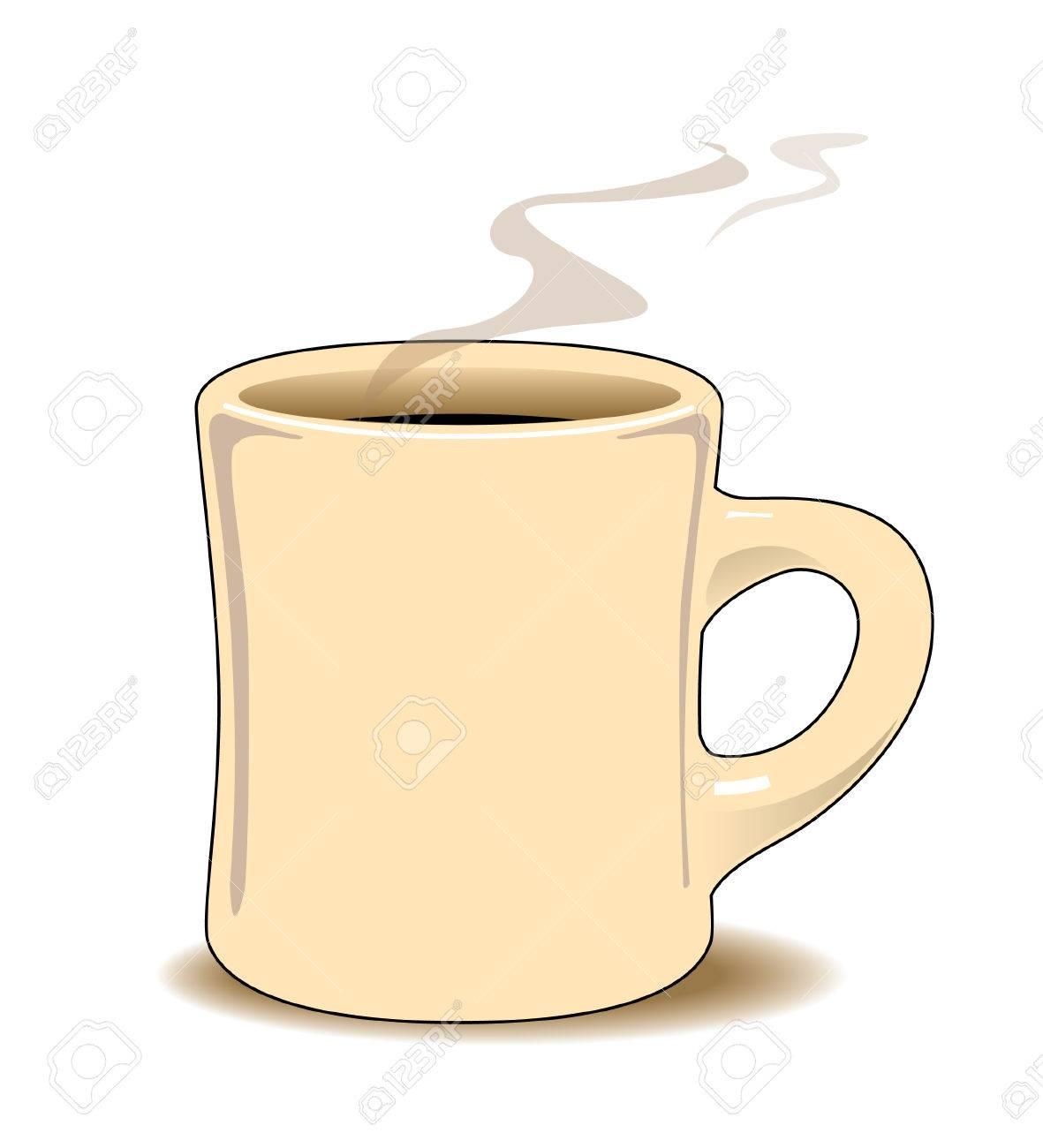 À Crème Du Couleur De Noir Tasse La Café Avec Et Vapeur Augmente K1Jc35TulF