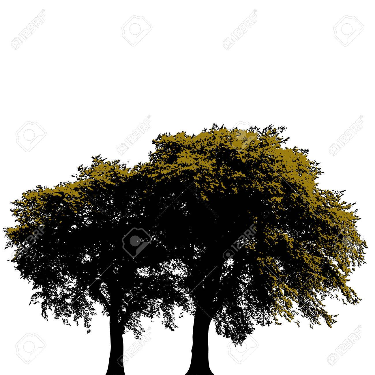 Vector tree background with space for text Stock Vector - 4071052